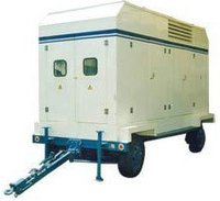 Trolley Mounted Mobile Genset With Acoustic Enclosure
