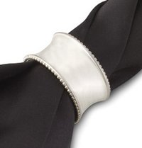 Silver Plated Finish Napkin Rings
