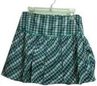 Ladies Short Checked Skirt