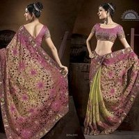 Mothi Work Saree
