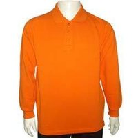 Gents Long Sleeve Polo T-Shirt In 3 Pique