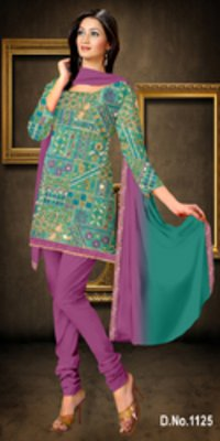 Cotton Silk Jequard Heavy Top Designer Work Suit
