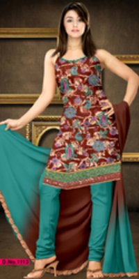 Designer Work Suit With Pure Dupatta