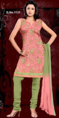 Banarsi Chanderi Silk Designer Work Suit