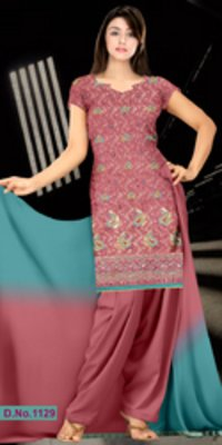Cotton Self Jequard Suit With Pure Dupatta