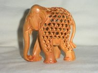 Wooden Jaali Elephant 