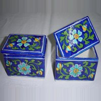 Blue Pottery Chouckor Box