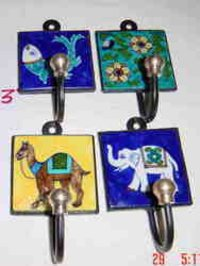 Blue Pottery Key Hanger