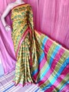 Block With Kantha Stitch Sarees