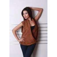 Ladies Leather Long Vests