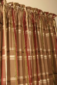 Silk Satin checks Fabrics