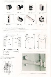 Bathroom Door Sliding Fitting (Svs 1078 Acc)