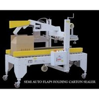 Semi Auto Flaps Folding Carton Sealer