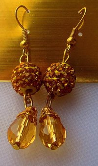 Crystal Pave Disco Ball Hanging Earrings