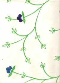 Embroidered Color Handmade Papers
