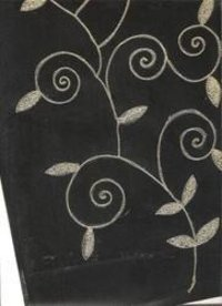 Black Gold Embroidered Handmade Papers