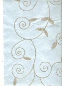 Baby Blue Embroidered Handmade Papers