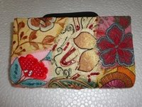 Fancy Patch Work Clutch Purse