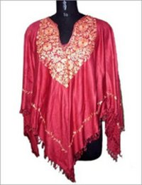 Viscose Embroidered Ponchos