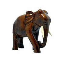 Wooden Crafted Elephants