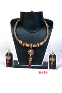Fancy Polki Necklace Set
