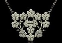Flower Silver Necklace Sets