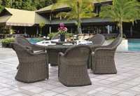 Garden Wicker Dining Table Chair Sets