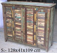 Designer Wooden Drawer Chest (128x41x109 cm)