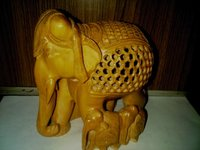 Jali Wooden Elephant
