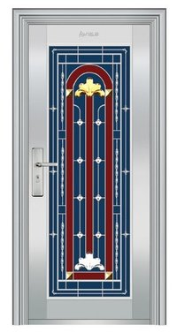 Decorative Stainless Steel Front Door