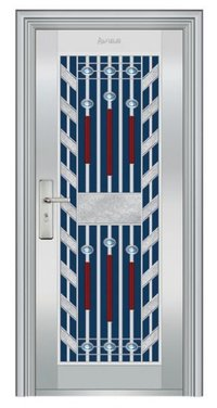 Designer Stainless Steel Front Door