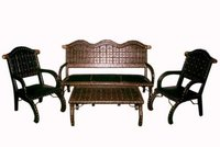 Sofa Set With Iron And Brass Fitting Work