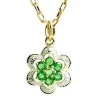 Green Diamond Pendant Set