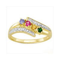 Real Multicolor Stone Ring
