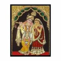 Gold Varakh In Radhe Krishna Paintings