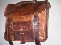 Vintage Handmade Genuine Leather School Bag