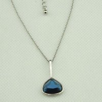 Blue Heart Shaped Pendant Necklace