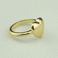 Golden Heart Shaped Rings