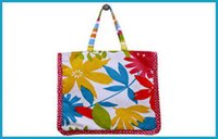 Frilled Tote Print Bag
