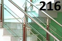 Shaded Glass Railing-Bmi 216