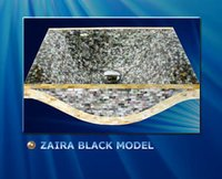 Zaira Black Model Washbasins