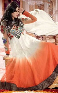 Shaded Gorgette Anarkali