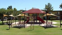Tensile Shade Sail For School Play Area