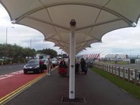 Walkway Tensile Cover Shade