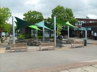 Waterproof Tensile Shade Sail For Cafe