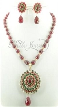 Elegant Single Strand Ruby Beaded