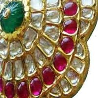 Ruby Emerald And Diamond Polki Pendants