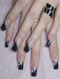 Ranara Black Nails