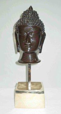 Brass Buddha Face