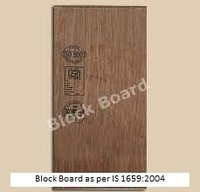 Isi Certification For Block Board